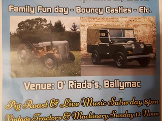 Ballymac Vintage Rally 15th & 16th September!