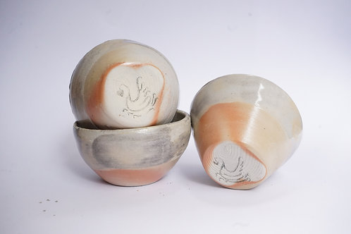 Wood Fired Bowl - White