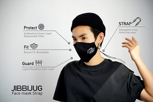 Reusable Face Mask strap with Filter Pocket & Strap -Never Coffee Distancing