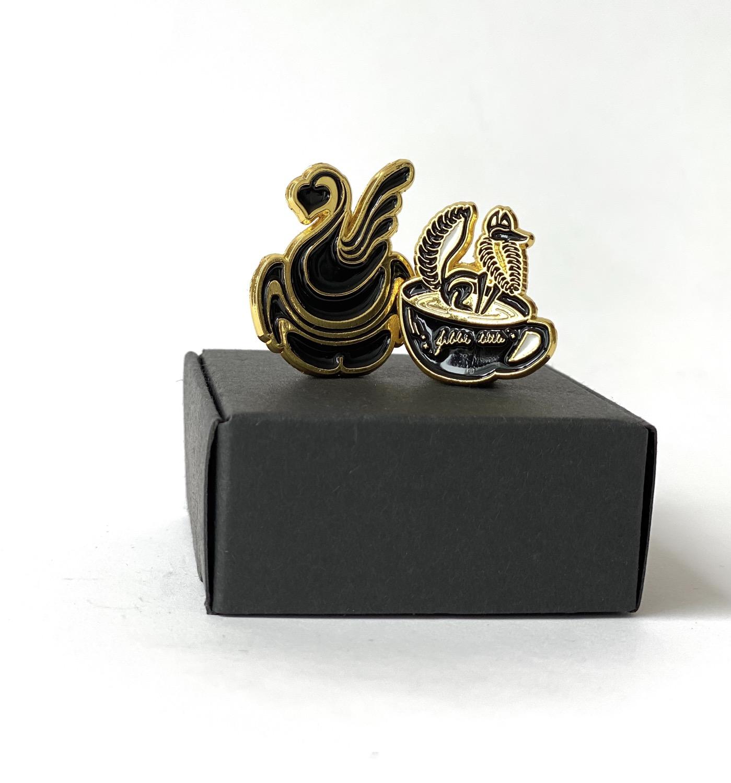 Thumbnail: Set of 2 SWAN Pins