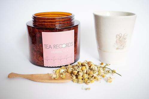 TEA AMBER JAR &TEA MUG