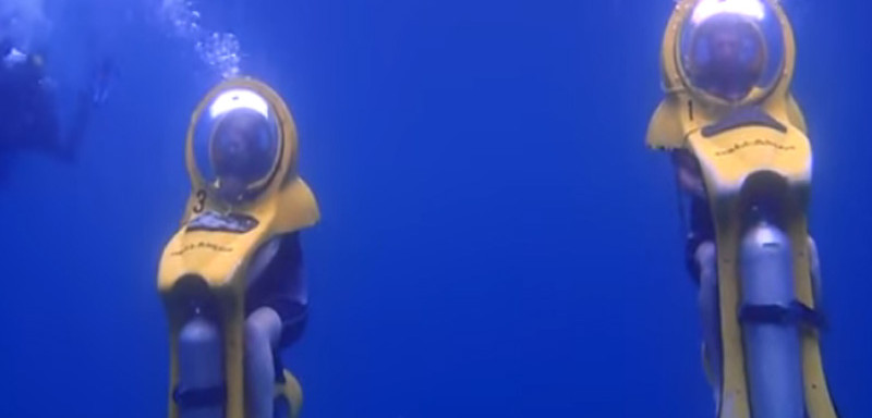Teneryfa Bob diving podwodne skutery