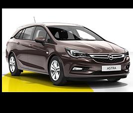 Opel Astra kombi, 5 drzwi, 5 miejsc, radio, klimatyzacja, manualna skrzynia biegów,