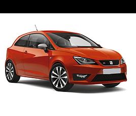 Seat Ibiza 3d, 3 drzwi, 4 miejsca, radio, klimatyzacja, manualna skrzynia biegów