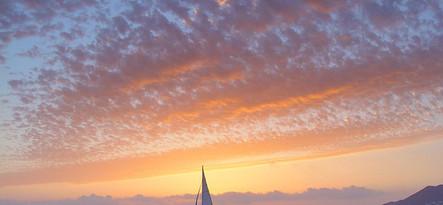Lanzarote Zachód słońca i delfiny