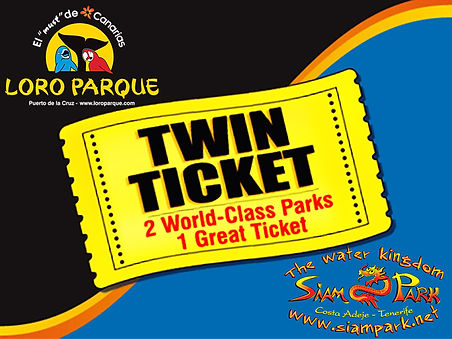 Twin Ticket Loro i Siam Park