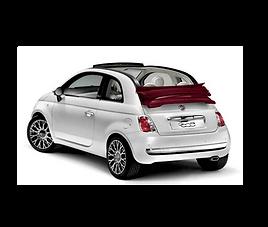Fiat 500 Cabrio, 3 drzwi, 4 miejsca, radio, klimatyzacja, manualna skrzynia biegów