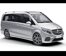 Mercedes V 8 pax, 4 drzwi, 8 miejsc, radio CD, klimatyzacja, automatyczna skrzynia biegów