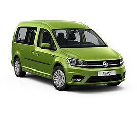 VW Caddy Maxi, 5 drzwi, 7 miejsc, radio CD, klimatyzacja, manualna skrzynia biegów