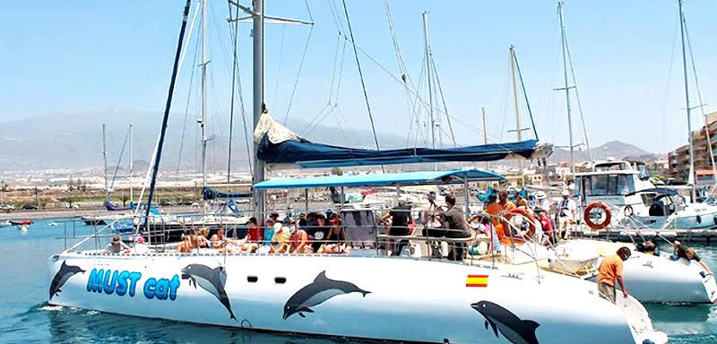 Teneryfa Katamaran Muscat z Puerto de la Cuz