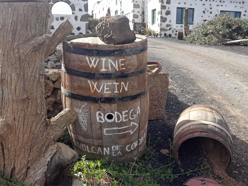 Lanzarote moja własne wycieczka Bodega w Ye