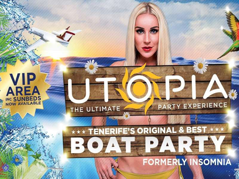 Teneryfa Utopa Boat Party 18+