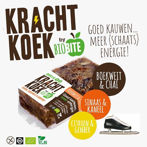 Schaats Krachtkoek 6x bio repen mix van (100gr.)