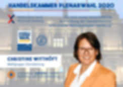 Handelskammer Plenarwahl 2020 Wahlplakat Christine Witthöft UMSATZSCHMIEDE