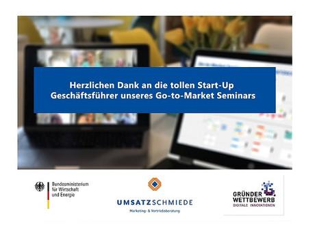 Herzlichen Dank an die tollen Start-Up Geschäftsführer unseres Go-to-Market Seminars