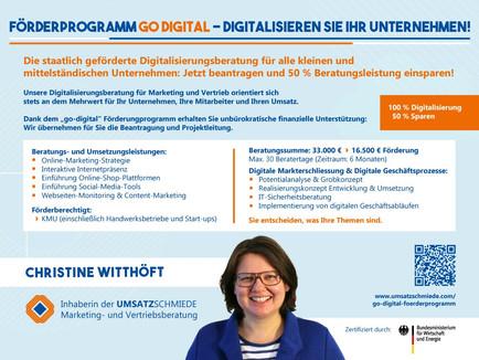 go-digital – Staatlich geförderte Beratung für KMU: 100 % Digitalisierung – 50 % Sparen