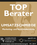 Zertifizierung TOP Berater 2019 UMSATZSC