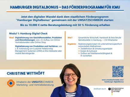 """100 % Digitalisierung, 50 % Förderung: Jetzt den """"Hamburger Digitalbonus"""" nutzen"""