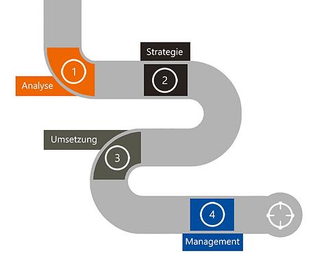 Analyse, Strategie, Umsetzung, Managemen