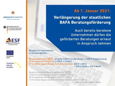 BAFA Richtlinienverlängerung zum 1. Januar 2021
