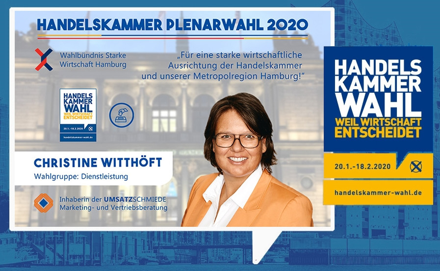 Starke Wirtschaft Hamburg Handelskammer Plenarwahl Hamburg 2020 UMSATZSCHMIEDE Christine Witthöft