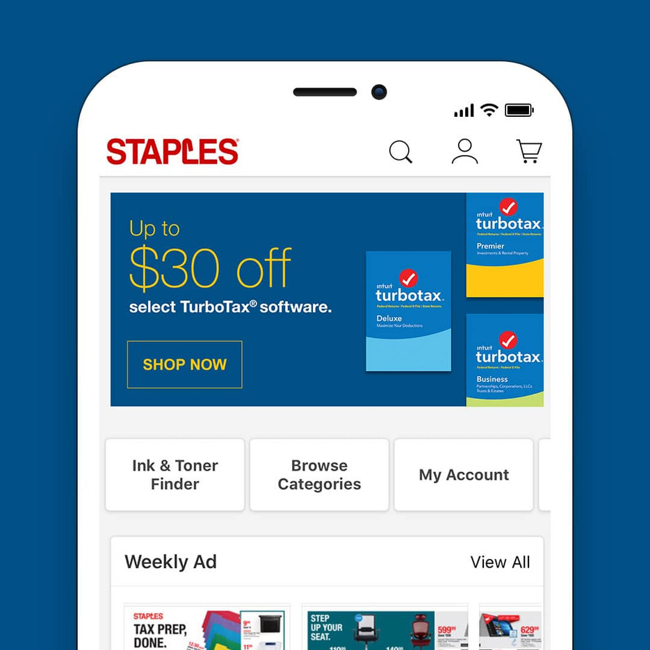 STAPLES WEB BANNERS