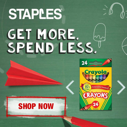 STAPLES BACK TO SCHOOL DISPLAY ADS