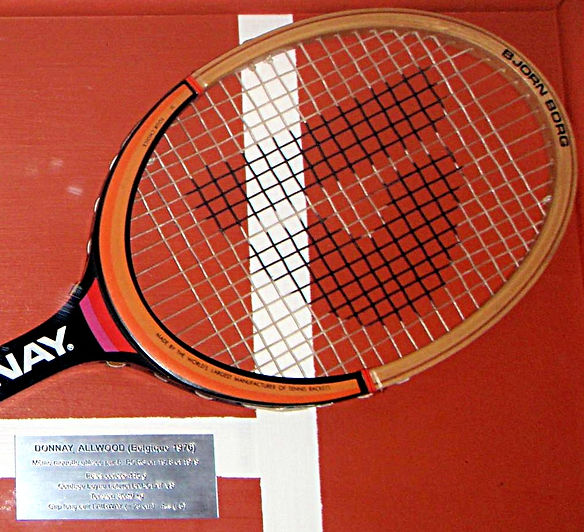 Grand Slam Showcase Tennis Memorabilia Donnay Allwood Borg