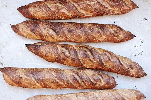 sourdough baguettes