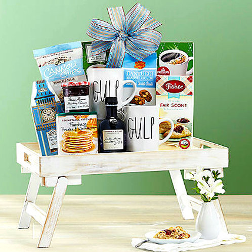 Breakfast Gift Tray, Pancakes, Syrup, Preserves, Coffee & More