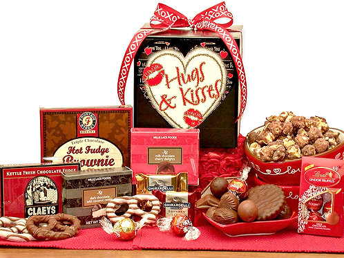 Valentine's Day Hugs & Kisses Valentines Day Care Package