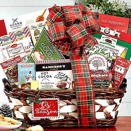 Happy Holidays Gift Basket, Best Tasting Christmas Gift
