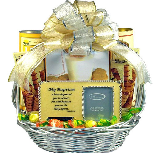 Baptism Celebration Gift Basket