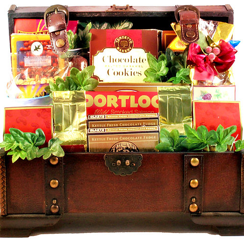 Large Gourmet Treasure Trunk, Perfect Gift For Any Occasion