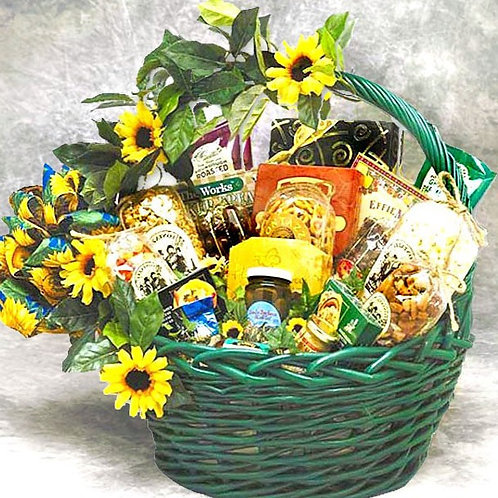 Sunflower Splendor, Gift Basket of Treats