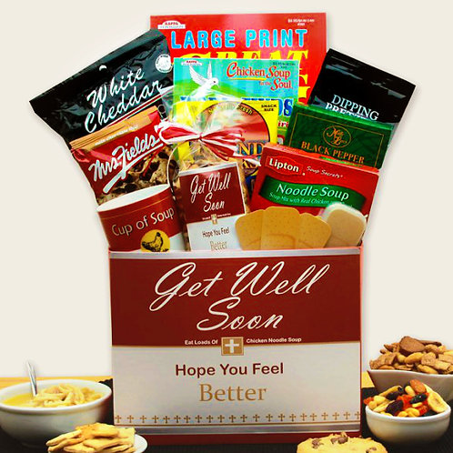 Chicken Noodle Soup Feel Better Soon Get Well Gift Box