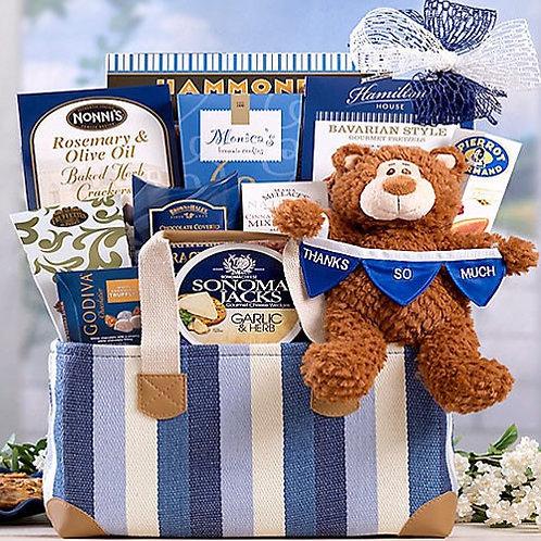 Thanks So Much Gift Basket, Bear Hugs Gift Basket