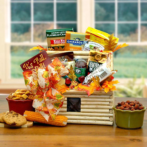 Log Cabin Greetings Fall Basket