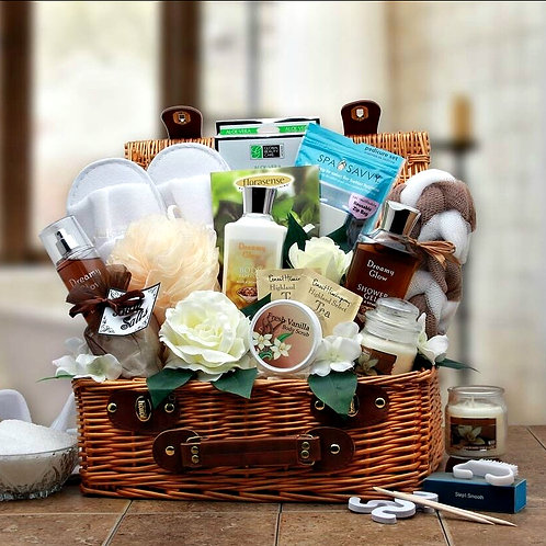 Beautiful Pamper Bath Gift Basket, Designed For Her