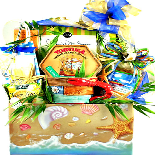 Tropical Delights, Beach-Themed Gift Basket