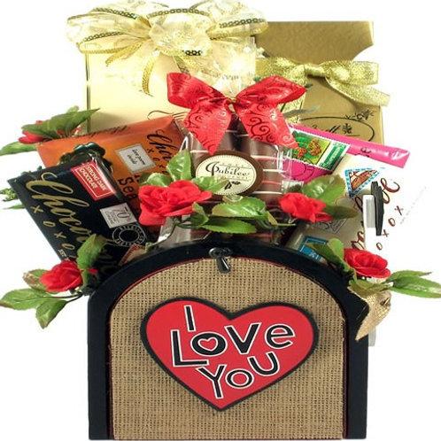Sending You My Love, Romantic Gift Basket
