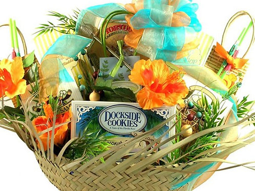 It's Five OíClock Somewhere, Beach Lover Gift Basket