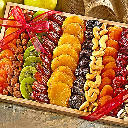 Gourmet Dried Fruit and Nut Gift Tray