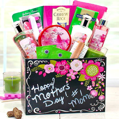 Exotic Lily Spa Basket for Mother