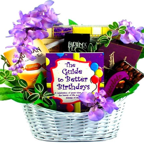 Guide to Better Birthdays, Birthday Gift Basket