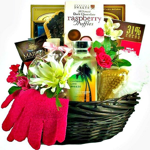 Sweet Escape Spa Gift Basket for Her