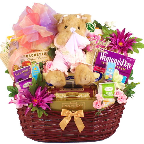 Rest and Recovery Deluxe Get Well Basket For Her