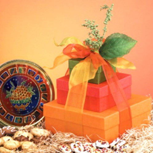 Shimmering Shades of Fall Gift Tower