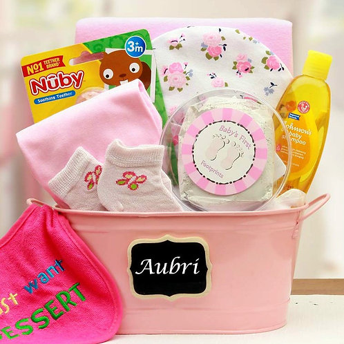 Baby Basics, Baby Girl Gift Basket