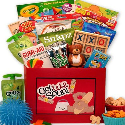Kids Get Well Teddy Gift Box, Fun Gifts For Children